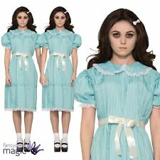 Adults Ladies The Shining Twin Sister Creepy Halloween 80s Fancy Dress Costume