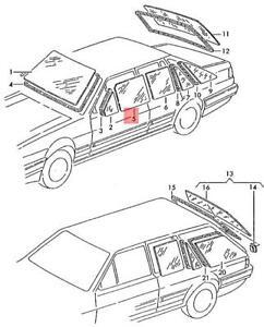 Genuine Volkswagen Door Window Left Front NOS Quantum syncro 32 321 323845201F