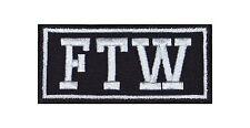 FTW = F*** the World Biker Heavy Rocker Patch Aufnäher Kutte Motorrad Badge Bild