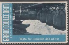 Washington State Grand Coulee Dam Water for Irrigation Cinderella Poster stamp