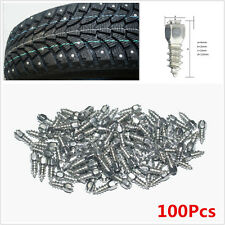 100Pcs Car/Truck/ATV Screw in Tire Stud Snow Spikes Racing Track Tire Ice Studs