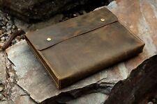 Leather document holder case folder A4 / letter size paper file case organizer