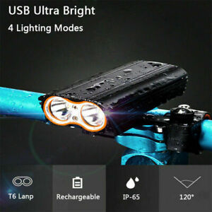 2000 Lumens USB Rechargeable Front Bike Light Bicycle Cycling Headlight Headlamp