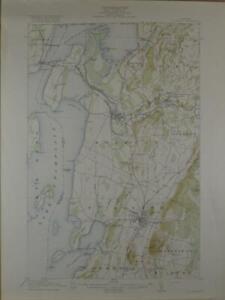St Albans Vermont Antique Original USGS Topographic Map 1916 16x20
