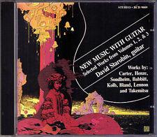 David STAROBIN: GUITAR Bland Elliott Carter Henze Takemitsu Sondheim Babbitt CD