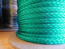 "3/8"" x 150 ft.of Hollow Braid Polypropylene Rope Hank. Bright Green"