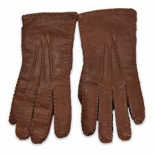 Damen Handschuhe Gr.7 Leder Leather Gloves Braun 91661