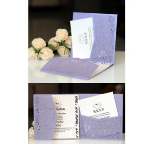 10PCS Laser Cut Wedding Party Invitation Card  Birthday Engagement Greeting