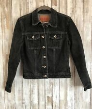 Vintage GUESS Denim Black Jean Button Up Jacket M Medium * CLASSIC!