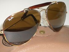B&L BAUSCH & LOMB RAY BAN TORTUGA B15 DRIVING OUTDOORSMAN II AVIATOR SUNGLASSES
