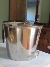 Milk Bucket Hand Milk Pail Stainess Steel 3 Gallon13 Quart