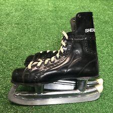 New listing Vintage Sherbrooke Bobby Orr Ice Hockey Skates Sz 4 Black Rally Pro Mint Cond