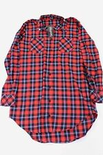 Boohoo Women's Sally Studded Collar Shirt Dress Red BF5 Size UK:8 US:4