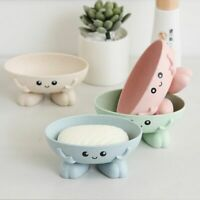 Soap Plate Holder Dish Storage Bathrooms Container Household Shaped Drain Tray
