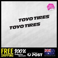 2x TOYO TIRES MEDIUM STICKER DECAL MOTOCROSS MOTOR CYCLE CAR RACING 150x15mm