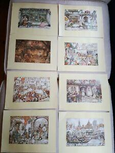 Art Reproduction Prints X 8 By Anton Pieck Job Lot 22.5cm X 15.5cm Each Print