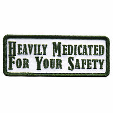 Heavily Medicated Jacket Vest MC Outlaw 4 inch Biker Patch