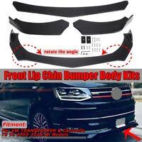Car Front Lip Chin Bumper Protector Body Kit Spoiler Universal Carbon Fiber