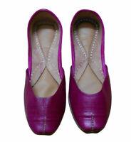 Women Shoes Indian Leather Jutties Handmade Flip-Flops Pink UK 3 EU 35.5
