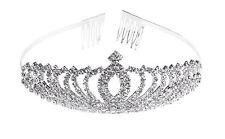 Bridal Princess Rhinestone Crystal Headband Crown Comb Tiara Wedding Prom Hair A
