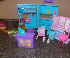 Vintage Littlest Pet Shop Store Carrying Case Pets Accessories Structures