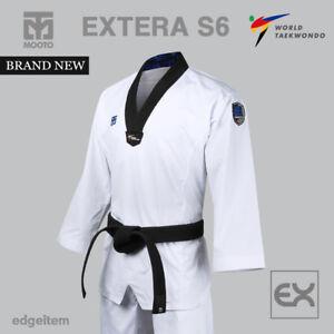 MOOTO EXTERA S6 Uniform (with Black V NECK) WT (World Taekwondo) Fighter Dobok