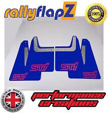 Mudflaps SUBARU FORESTER (04-08) rallyflapZ 3mm PVC Blue STI style logo Pink