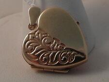 586F VINTAGE LADIES 9CT GOLD LOCKET PENDANT