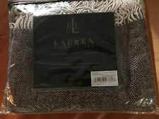 NWT Ralph Lauren Herringbone Wool/Cashmere Throw Blanket Brown MSRP $295