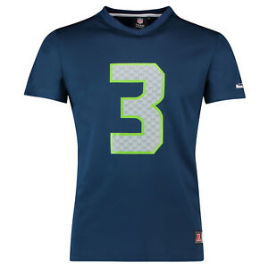 NFL Seattle Seahawks Russell Wilson Trikot Jersey Shirt Polymesh Football navy