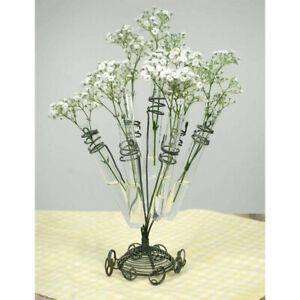 Glass Test Tube Flower Holder Decorative Tabletop Home Kitchen Floral Decor