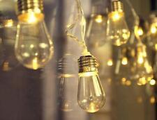 Lichterkette Vintage Retro Nostalgie 10 LED Glühbirnen Edison Batterie Dekolicht