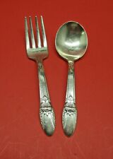 1847 Rogers Bros First Love 1937 2 Piece Baby Set Silverplate Flatware