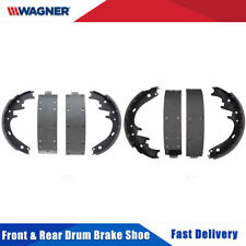 Front & Rear Premium 8 PCS Wagner Drum Brake Shoes 2 Set For FORD GALAXIE 1966