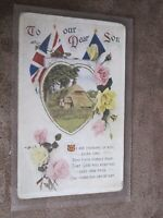 Topical Series World War1 greeting postcard - To our dear son