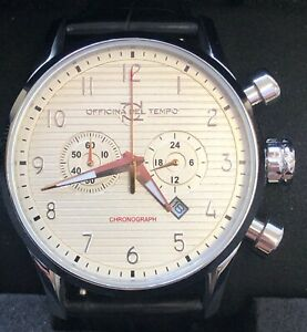 OFFICINA DEL TEMPO MADE IN ITALY OT1033-110ANGP Chronograph with date