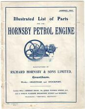 Hornsby Petrol Engine - Parts List