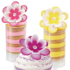 Wilton Multi Color Flower 12 piece cake toppers accessories not included  B104