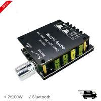 HiFi Power Amplifier 2x100W Stereo Amp Board Bluetooth 5.0 ZK-1002L MINI