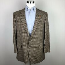 Gieves Hawkes Savile Row Mens 42 Brown Checkered 2 Button Sport Coat Wool