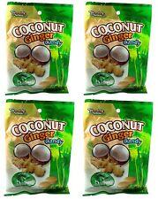 4 BAG Dandy's Dandys Coconut Ginger Hard Candy 3.52 oz 21 pcs