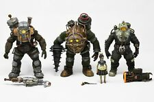 BioShock Action Figure Lot - Three Big Daddy figures and a Little Sister