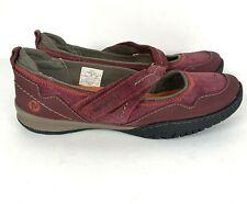 Merrell Womens 7 Zinfandel mary jane comfort shoes sneaker suede maroon 1790740