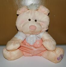 Vintage 1986 Fisher Price Puffalump Peach Bear Stuffed Doll Toy #8006