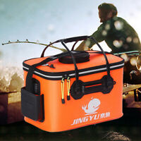 Portable Foldable EVA Fishing Bucket Live Fish Container Camping Travel Tool