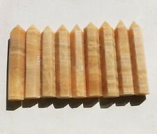 1028g 9pcs 100% NATURAL TOPAZ QUARTZ CRYSTAL DT WAND POINT HEALING  CHINA Y337