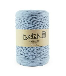Crafting Cotton 6ply LIGHT BLUE New Cotton Knit Crochet Weave 220m washable