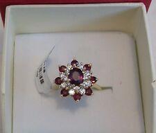 14k garnet diamond ring  .50ctw diamonds   Retail value $1300
