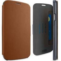 Flip Wallet Case Cover for Samsung Galaxy Note 3 N9000 Card Slot Brown Belkin