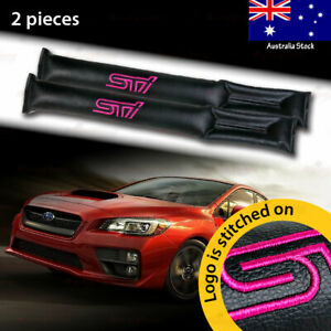 2x For Subaru STi Car Seat Space Gap Pad Filler Stopper Leakproof Protector BLK